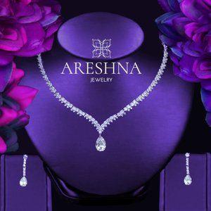 Queen Swarovski Luxury Bridal Jewelry Set